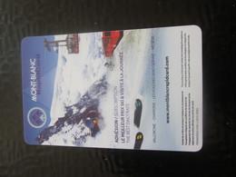 PASS CHAMONIX SKI MONT-BLANC Titre De Transport - Ticket Simple - BILLET TICKET RAPID CARD  TELESKI SAVOIE - Titres De Transport