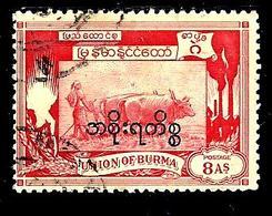 BIRMANIE S21° 8a Carmin Type 1949 Surchargé Service (10% De La Cote + 0,26) - Myanmar (Burma 1948-...)