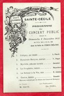 83 LA SEYNE SUR MER CPA PROGRAMME DU CONCERT PUBLIC DONNE LE 04 DECEMBRE 1921 DANS LA SALLE DE L' EDEN THEATRE - La Seyne-sur-Mer