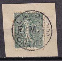 FRANCE - 15 C. Lignée Oblitéré Sur Fragment De LANG-SON (Tonkin) - Franchise Stamps