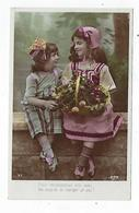 CPA - Carte Photo - Enfants - Fillette - Costume - Coiffe - Pour Récompenser Mon Aveu - Ritratti