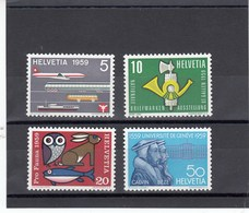 Suisse - 1959 - Neuf** - N° YT 621/624 - Propagande - Unused Stamps