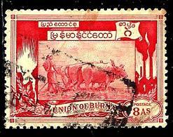 BIRMANIE 42° 8a Carmin 1er Anniversaire De L'indépendance Culture (10% De La Cote + 0,26) - Myanmar (Burma 1948-...)
