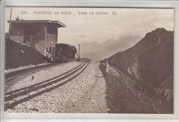 ROCHERS DE NAYE - GARE DE JAMAN - ANCIEN TRAIN ET ANIMATION - N/C - VD Vaud