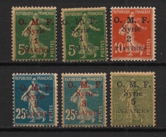 Syrie - 1920 - N°Yv. 34 à 39 - Semeuse OMF 6 Valeurs - Neuf Luxe ** / MNH / Postfrisch - Syria (1919-1945)