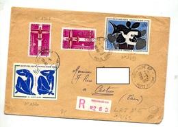 Lettre Recommandée Toulouse Sur Ingres Braque Avion - Postmark Collection (Covers)