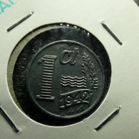Netherlands 1 Cent 1942 Varnished - 1 Cent
