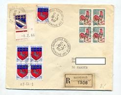 Lettre Recommandée Barneville Sur Carre Coq Saint Lo - Postmark Collection (Covers)