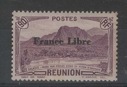 REUNION - N° 202 Neuf ** Surchargé France Libre - Ungebraucht
