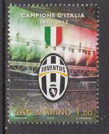 2012 San Marino Juventus Football  Complete  Set Of 1 MNH   ** BELOW FACE VALUE *** - San Marino