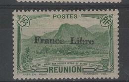 REUNION - N° 190 Neuf ** Surchargé France Libre - Ungebraucht