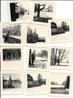 ( M 4953 )  Lot De 11 Anciennes Petites Photo's ( 7 Sur 7 Cm ) - Cartes Postales