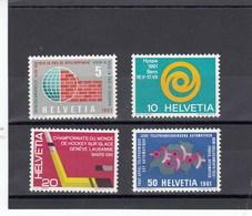 Suisse - 1961 - Neuf** - N° YT 673/676 - Propagande - Suisse