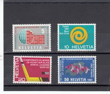 Suisse - 1961 - Neuf** - N° YT 673/676 - Propagande - Nuovi