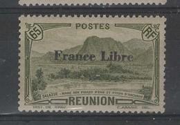REUNION - N° 198 Neuf ** Surchargé France Libre - Neufs