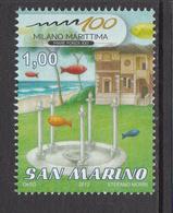 2012 San Marino Marittima Show  Complete  Set Of 1 MNH   ** BELOW FACE VALUE *** - San Marino