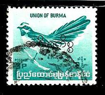 BIRMANIE 92° 3p Turquoise Série Courante Oiseaux Endémiques Muscicape (10% De La Cote + 0,15) - Myanmar (Burma 1948-...)