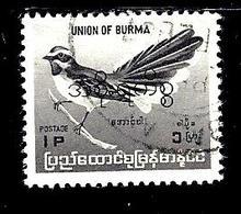 BIRMANIE 90° 1p Gis-violet Série Courante Oiseaux Endémiques Muscicape (10% De La Cote + 0,26) - Myanmar (Burma 1948-...)