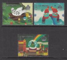 2015 San Marino Christmas Navidad Noel  Complete Set Of 3 MNH   ** BELOW FACE VALUE *** - San Marino