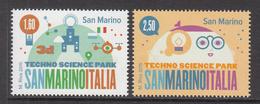 2015 San Marino Science Park  Complete Set Of 2 MNH   ** BELOW FACE VALUE *** - San Marino