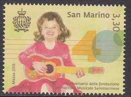 2015 San Marino Music Institute Guitar  Complete Set Of 1 MNH   ** BELOW FACE VALUE *** - San Marino