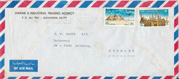 Egypt Air Mail Cover Sent To Denmark - Airmail