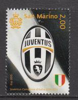 2015 San Marino Football Juventus Complete Set Of 1 MNH   ** BELOW FACE VALUE *** - San Marino