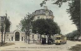- Dpts Div -ref-AL770- Paris - Caserne Des Pompiers De La Rue Haxo - Sapeurs Pompiers - Metiers - Tramway Opera - - District 20