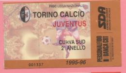 Biglietto D'ingresso Stadio Torino Juventus 1995/96 - Toegangskaarten