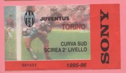 Biglietto D'ingresso Stadio Juventus Torino 1995/96 - Biglietti D'ingresso