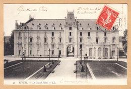 CPA Vittel Contrexeville, Le Grand Hotel, Gel. 1907 - Vittel Contrexeville