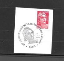 3977  OBL Y & T   60e Anniversaire Marianne De Gandon  Cachet Paris  « Oblitération Premier Jour » 15B/64 - Used Stamps