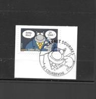 3834  OBL Y & T   Sourires Avec Le Chat De Philippe Geluck  Cachet Courbevoie  « Oblitération Premier Jour » 15B/63 - Used Stamps