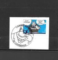 3833  OBL Y & T   Sourires Avec Le Chat De Philippe Geluck  Cachet Courbevoie  « Oblitération Premier Jour » 15B/63 - Used Stamps