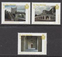 2015 San Marino Architecture Gino Zani Complete Set Of 3 MNH   ** BELOW FACE VALUE *** - San Marino