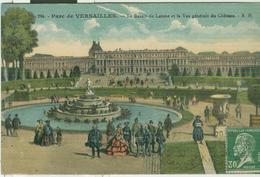 PARC DE VERSAILLES - LE BASSIN DE LATONE ET LA VUE GENERALE DU CHATEAU,1930, ITALIA, MILANO - Versailles