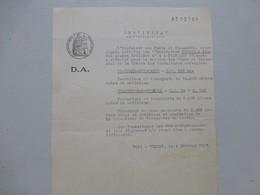 GUERET 1937, Construction RN151 St-Léger-Bridereix Et N696 Chambon/Voueize  ; PAP05 - Historische Dokumente