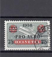 Suisse - 1938 - Oblit - Timbre De 1923/33 Surchargé - Papier Gaufré - Posta Aerea