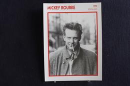 Sp-Acteur, 1990 - Mickey Rourke Est Un Acteur, Scénariste Et Boxeur Américain Né Le 16 Septembre 1952 à Schenectady - Acteurs