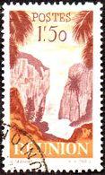Réunion Obl. N° 270 - Détail De La Série émise En 1947 - 1f50 Orange Et Brun-lilas - Réunion (1852-1975)