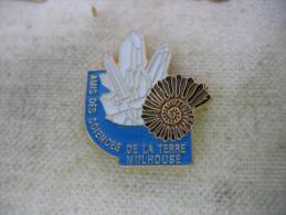 Pin's Des Amis Des Sciences De La Terre à MULHOUSE. Minéraux - Associations
