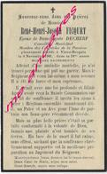 En 1943-Vieux Berquin (59)- Conseiller Municipal-René FICQUET Ep Agnès DECHERF 51 Ans - Décès