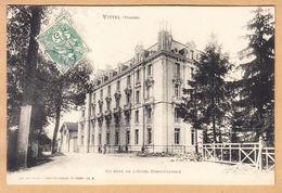 CPA Vittel Contrexeville, Un Cote De L Hotel Cosmopolitain, Gel. 1907 - Vittel Contrexeville