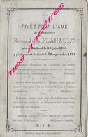 En 1874-Bailleul (59)- Sophie FLAHAULT Née En 1805 - Décès