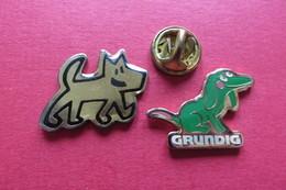 2 Pin's,Animaux,CHIEN,GRUNDIG - Animaux