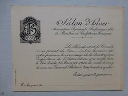 GRAND PALAIS Paris, Salon D'hiver 1914 Peintres Et Sculpteurs, Entrée 2 Personnes  ; PAP05 - Eintrittskarten