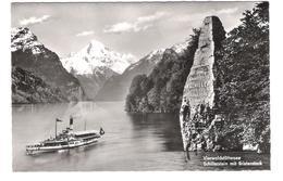 Schweiz - Vierwaldstättersee - Schillerstein Mit Bristenstock - Dampfer - Schiff - Ship - Alte Ansicht - LU Luzern