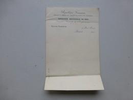EXPO UNIVERSELLE 1900, Lettre à Entête, Section Française ; PAP05 - Tickets D'entrée