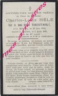 En 1915-Bailleul (59) Et Meteren (B)-Charles HELE Ep Victorine VANCOSTENOBLE Né 1850 - Décès