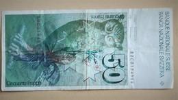 Lots Billets SUISSE 6ème Série Un De 50 F  + 3 De 20 Francs  + Un De 10 Francs Voir Les Photos - Suiza